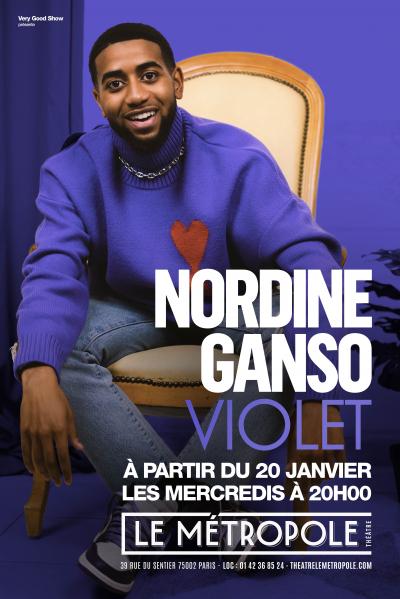 NORDINE GANSO DANS VIOLET